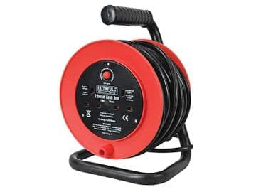 Open Drum Cable Reel 240V 13A 2-Socket 15m